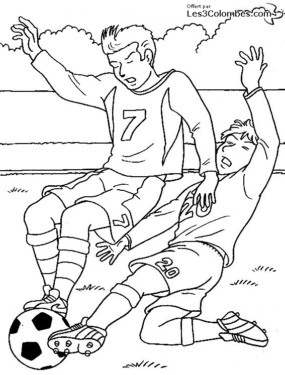 Coloriage coupe du monde de football 05 coloriage en - Dessin en coupe ...