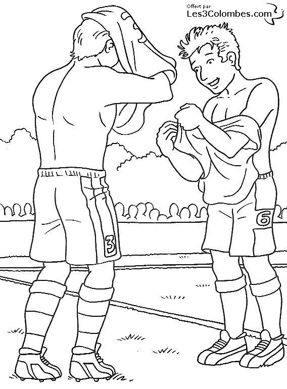 Coloriage foot 02 coloriage en ligne gratuit pour enfant - Coloriage en ligne enfant ...