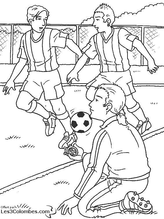 Coloriage foot 11 coloriage en ligne gratuit pour enfant - Coloriage foot gratuit ...