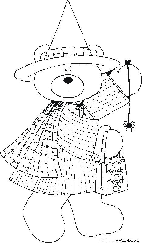Color the3doves october bear girl coloriage en ligne - Coloriage en ligne enfant ...