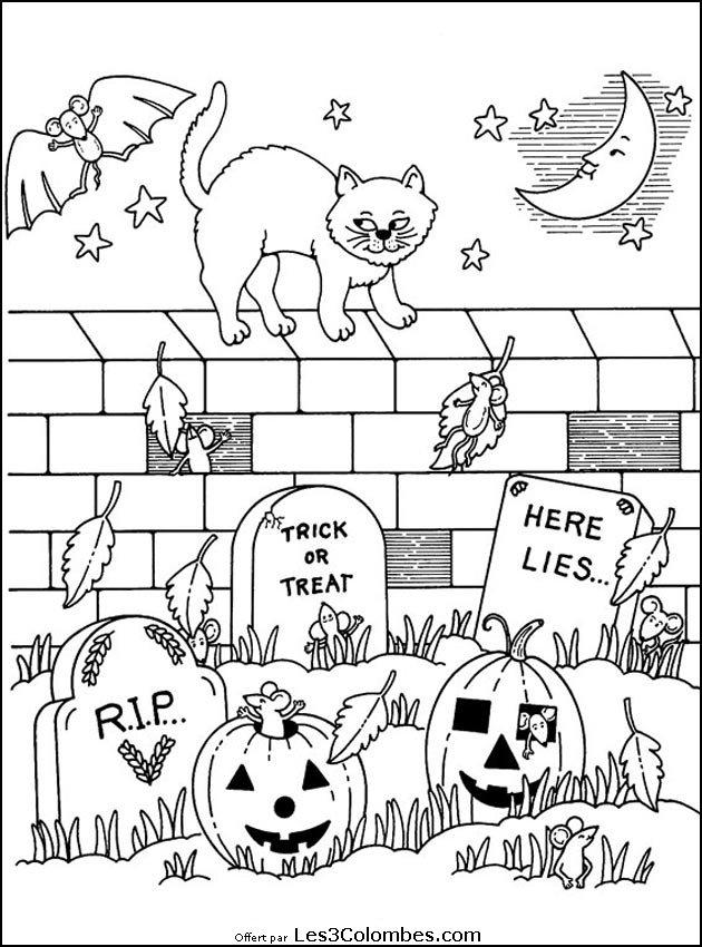 Coloriages halloween 020 coloriage en ligne gratuit pour enfant - Coloriage halloween gratuit ...