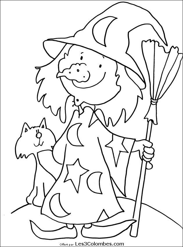 coloriages halloween 107 - Coloriage en ligne gratuit pour enfant