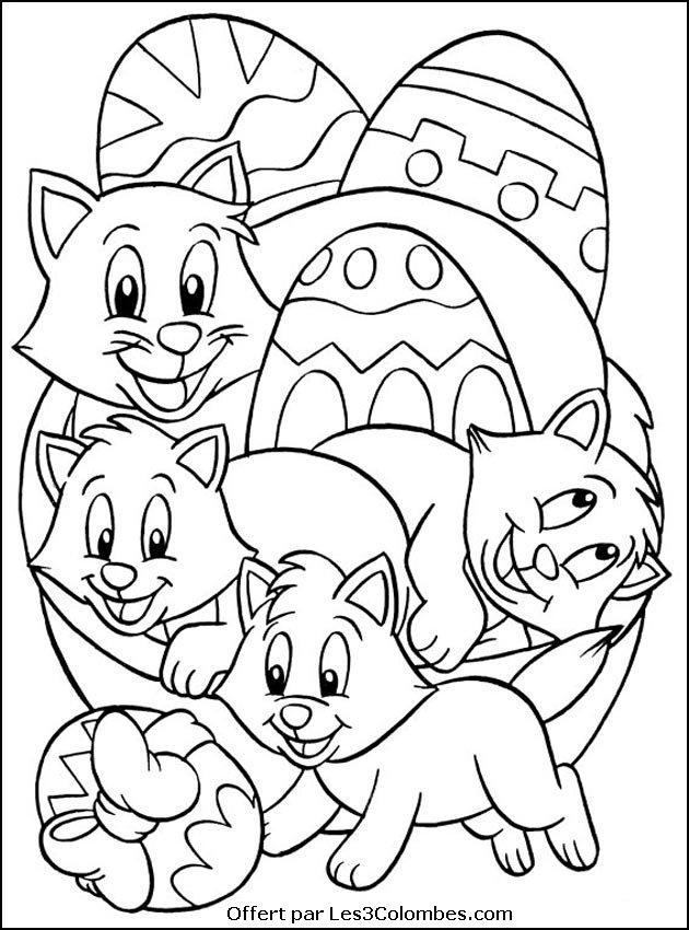 Coloriages Paques 038 Coloriage En Ligne Gratuit Pour Enfant