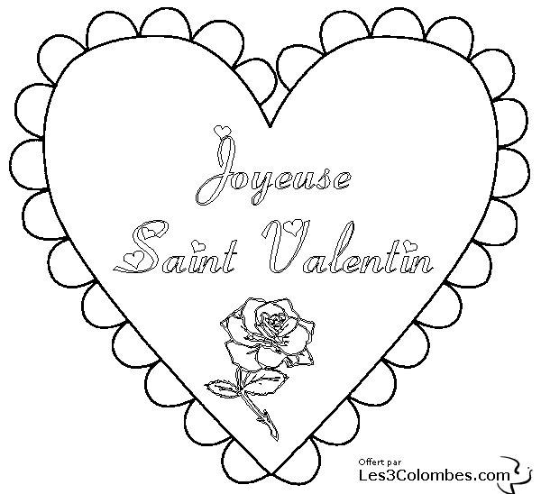 Coeur a colorier amour 014 coloriage en ligne gratuit pour enfant - Coeur de st valentin a imprimer ...