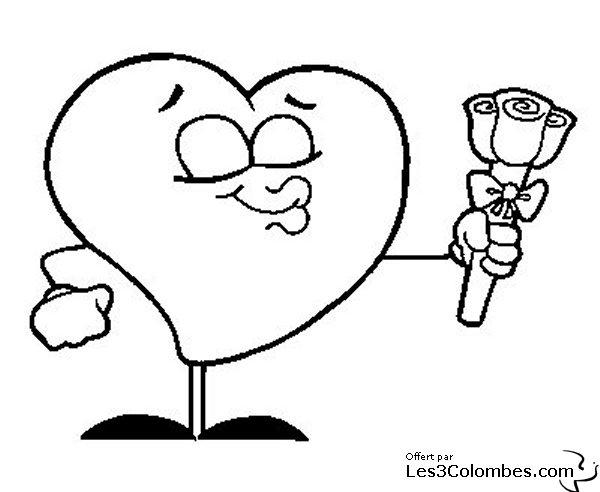 Coeur saint valentin 002 coloriage en ligne gratuit pour - Coloriage en ligne enfant ...