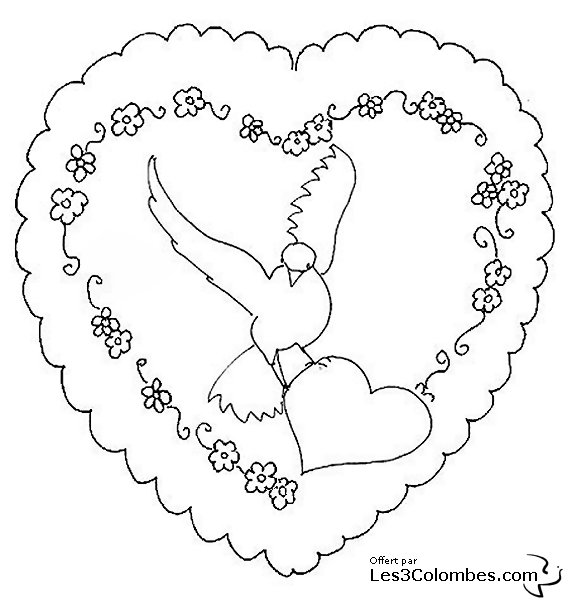 Coloriage coeur pour la saint valentin coloriage en ligne gratuit pour enfant - Coeur pour la saint valentin ...