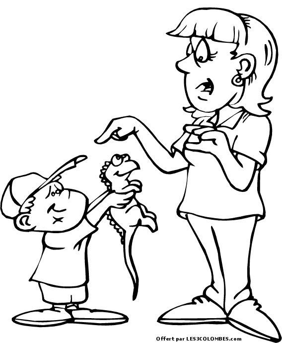 Fete maman 1 coloriage en ligne gratuit pour enfant - Coloriage en ligne enfant ...