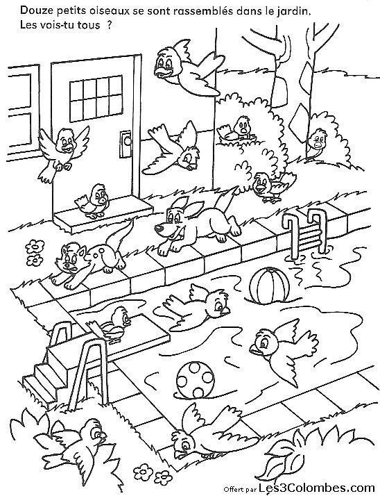 Jeux de concentration 08 coloriage en ligne gratuit pour - Coloriage en ligne enfant ...
