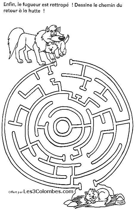 Labyrinthe dessins 43 coloriage en ligne gratuit pour enfant - Labyrinthe dessin ...