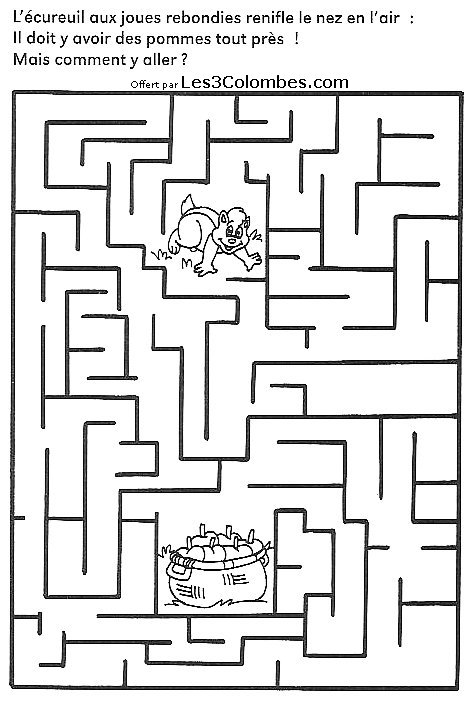 Labyrinthe dessin 37 coloriage en ligne gratuit pour enfant - Coloriage pour enfant en ligne ...