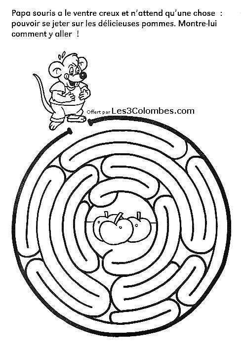 Labyrinthe dessin 40 coloriage en ligne gratuit pour enfant - Coloriage pour enfant en ligne ...