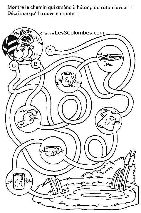 Labyrinthe enfants 31 coloriage en ligne gratuit pour enfant - Coloriage pour enfant en ligne ...