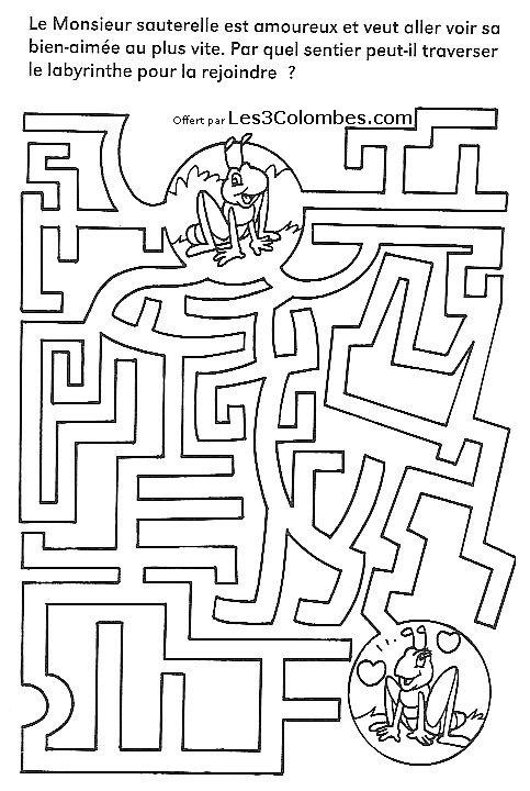 Labyrinthe enfants 32 coloriage en ligne gratuit pour enfant - Coloriage en ligne enfants ...