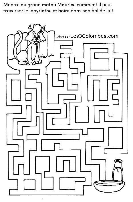 Labyrinthe enfant 25 coloriage en ligne gratuit pour enfant - Coloriage pour enfant en ligne ...
