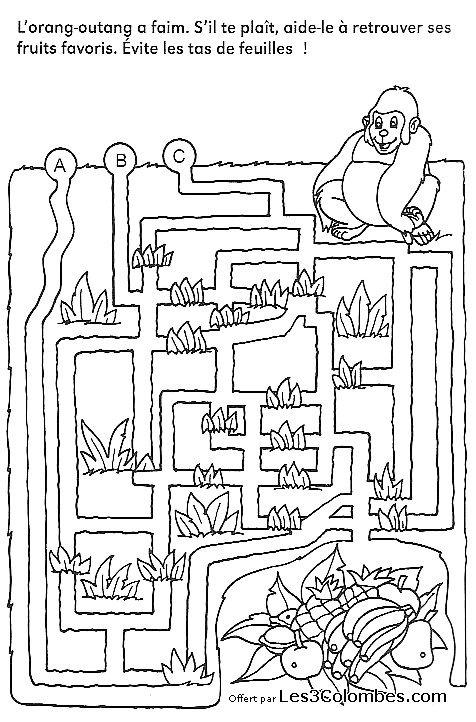 Labyrinthe imprimer 16 coloriage en ligne gratuit pour enfant - Coloriage en ligne enfants ...