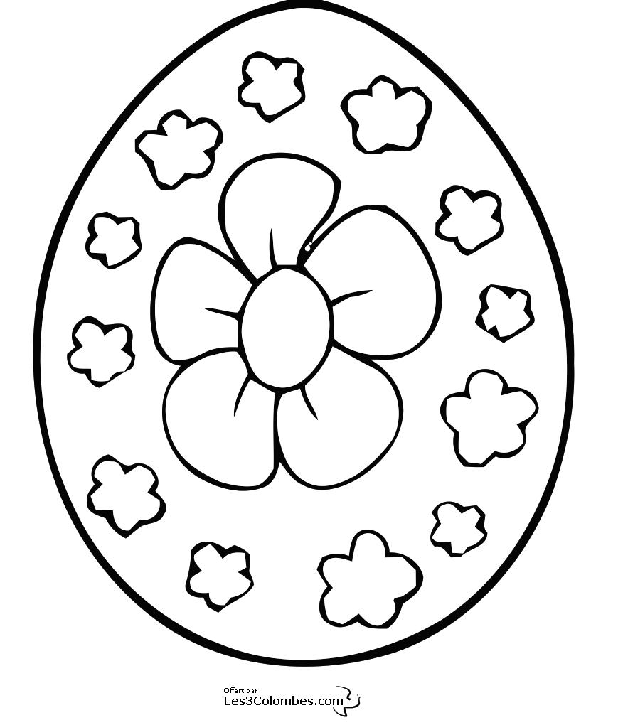 Coloriage Oeuf De Paques Fleur 5 Coloriage En Ligne
