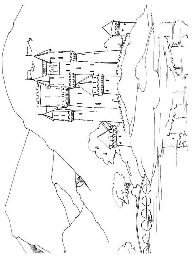 Coloriage En Ligne Chateau.Coloriage Chateau 01 Coloriage En Ligne Gratuit Pour Enfant