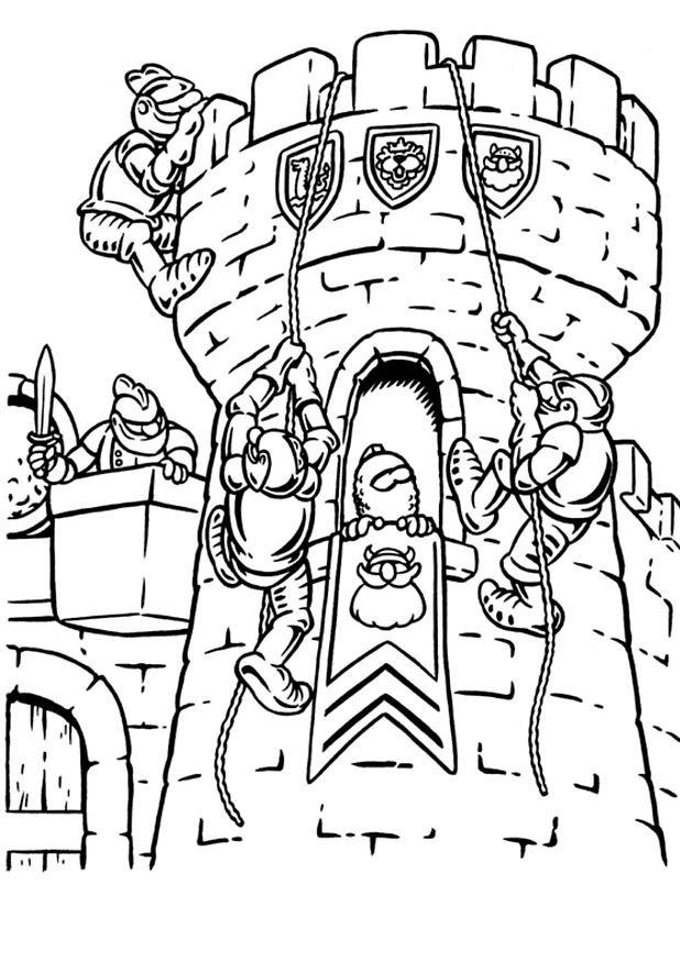 Coloriage Chateau En Ligne.Coloriage Chateau 02 Coloriage En Ligne Gratuit Pour Enfant