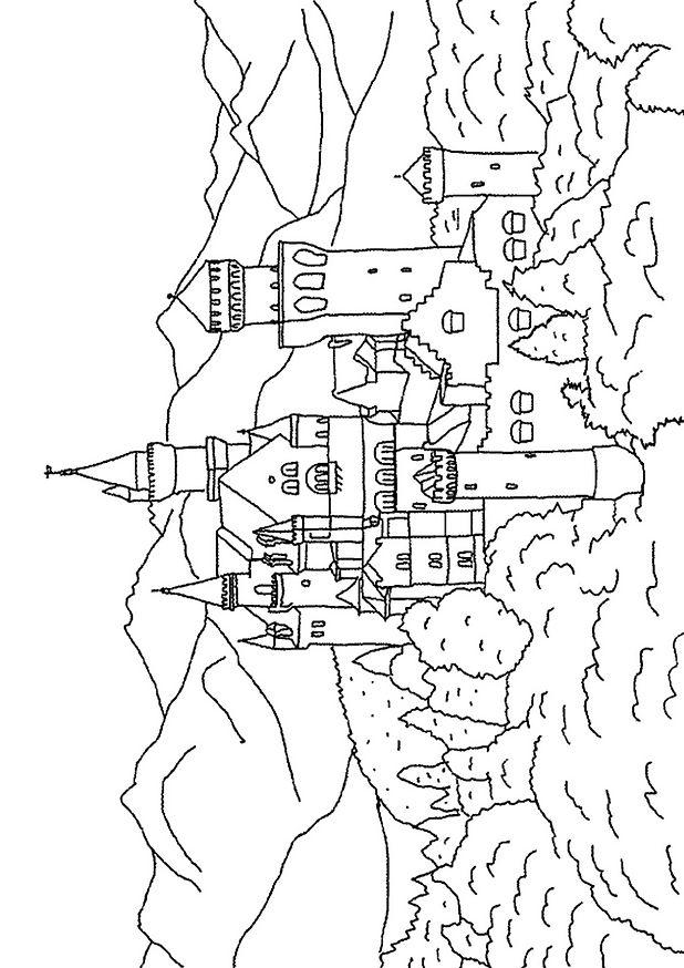 Coloriage Chateau En Ligne.Coloriage Chateau 03 Coloriage En Ligne Gratuit Pour Enfant