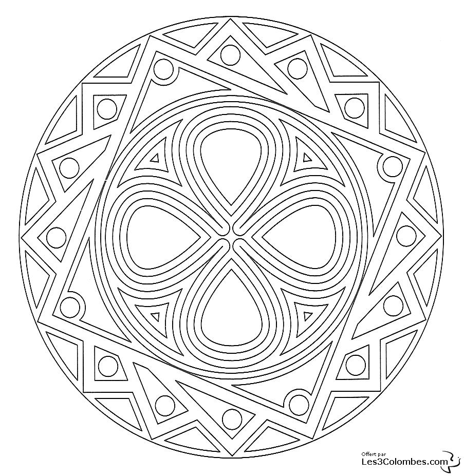 Coloriage De Mandala En Ligne Gratuit.Coloriage Mandala 02 Coloriage En Ligne Gratuit Pour Enfant