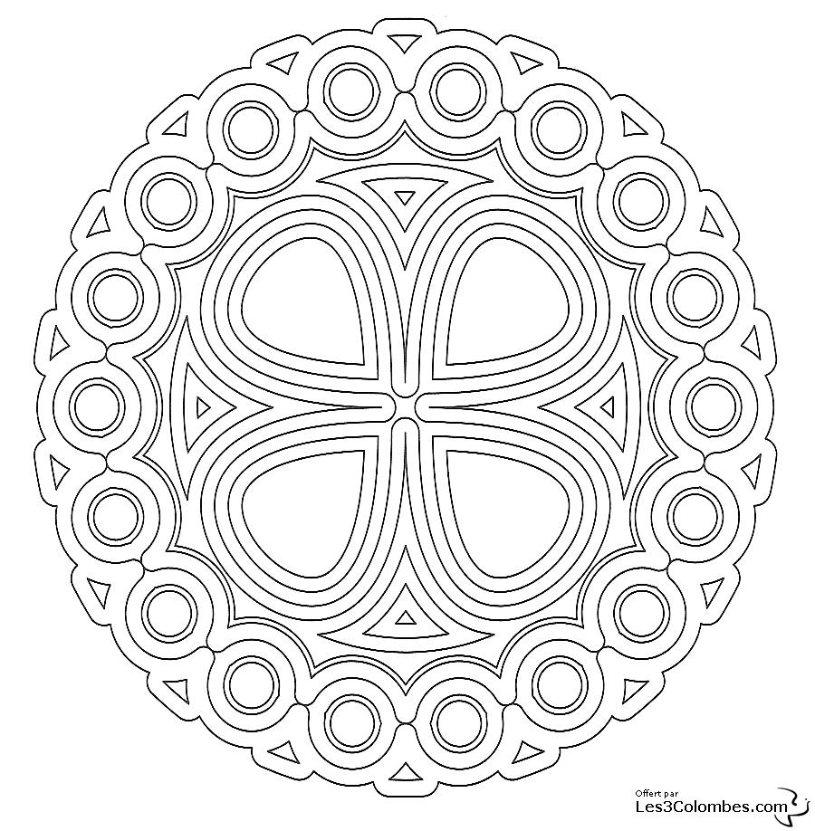 Coloriage mandala 12 coloriage en ligne gratuit pour enfant - Mandala coloriage en ligne ...