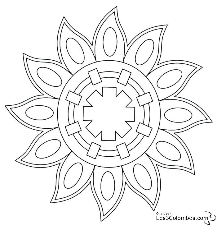 Coloriage mandala 42 coloriage en ligne gratuit pour enfant - Coloriage en ligne enfant ...