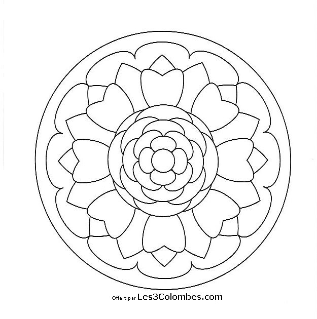 Mandala facile 61 coloriage en ligne gratuit pour enfant - Coloriage en ligne enfant ...