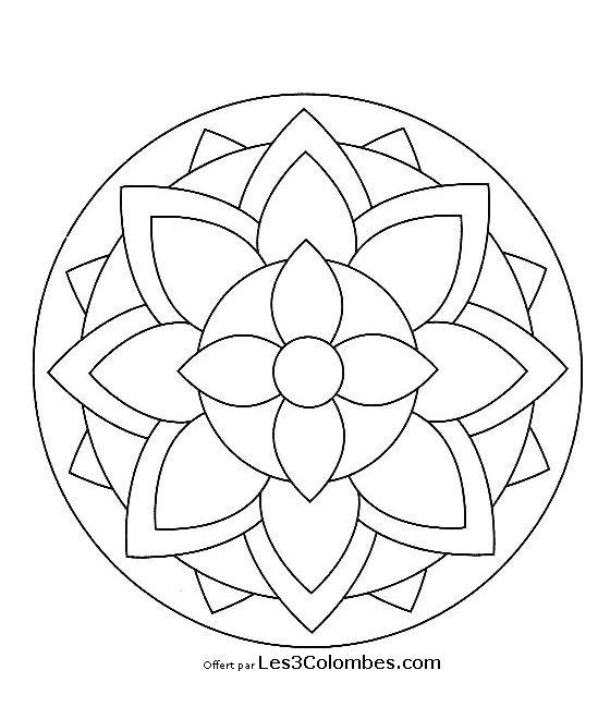 Coloriage De Mandala En Ligne Gratuit.Mandala Gratuit 68 Coloriage En Ligne Gratuit Pour Enfant