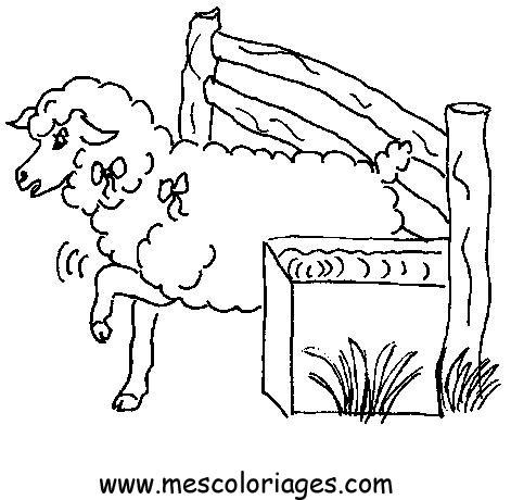 Coloriage mouton 47 coloriage en ligne gratuit pour enfant - Mouton en dessin ...
