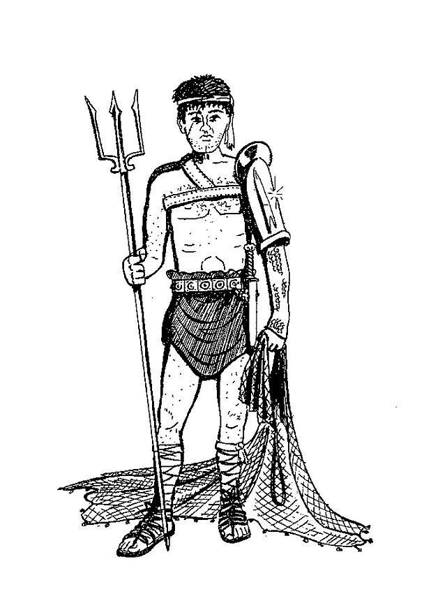 coloriage gladiateur 314 05 coloriage en ligne gratuit