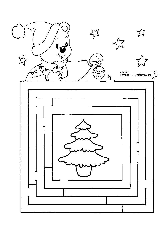 jeu de noel a imprimer 111   Coloriage en ligne gratuit pour enfant