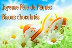 Joyeuses Pâques bisous chocolat