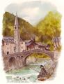 village et pêcheur