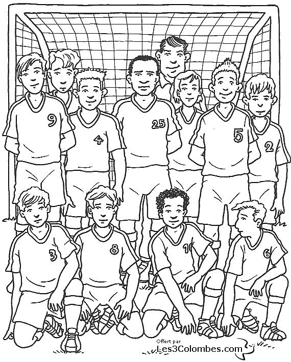 coloriage foot 13