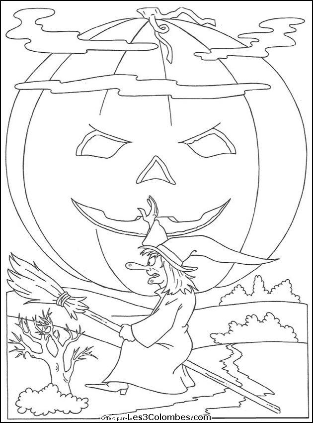coloriages halloween 049 - Coloriage en ligne gratuit pour enfant