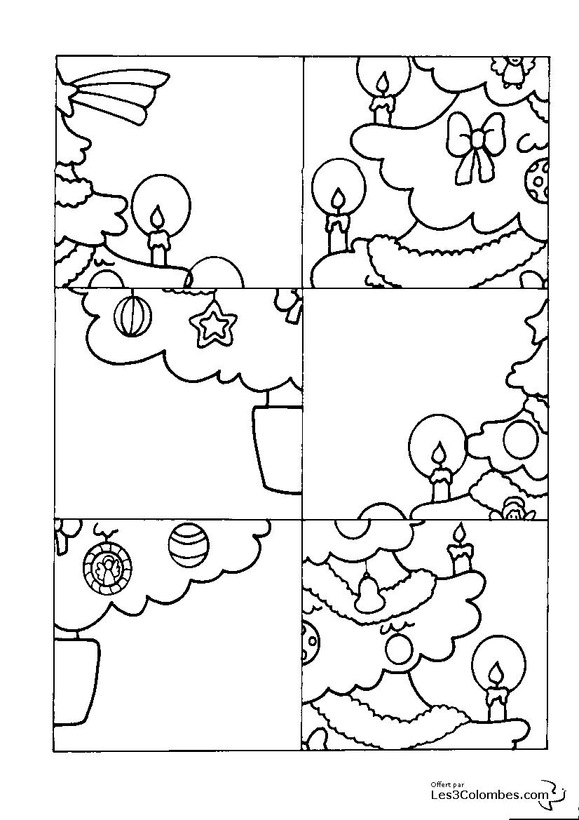 jeu de noel a imprimer 115 - Coloriage en ligne gratuit pour enfant